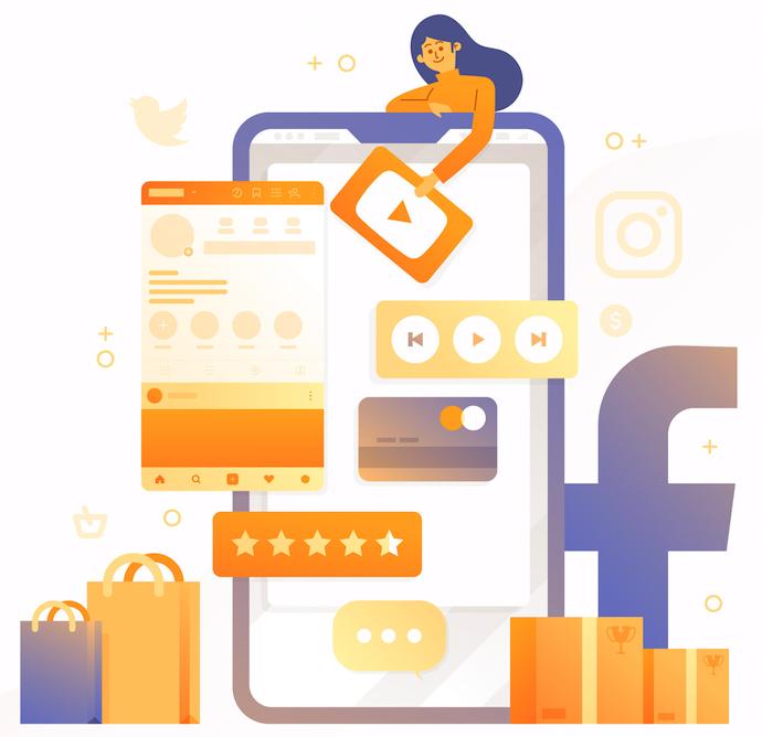 mídias sociais para negócios